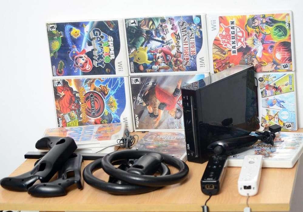 Nintendo Consola Wii accesorios 11 juegos originales