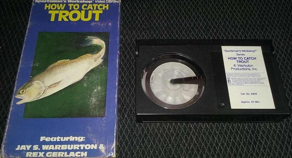 Como Atrapar Pescar la trucha Arco Iris con éxito En INGLES Para BETAMAX La cinta tiene HONGOS se puede limpiar.