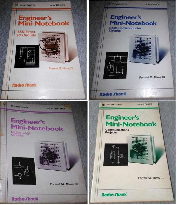 Mini libros para Ingenieros Engineers Mini Notebook Forrest M. Mims Iii Radio Shack Made in USA