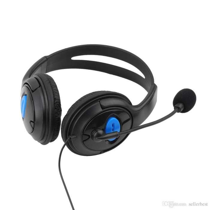 Diadema Para Ps4 Con Microfono Y Control De Volumen