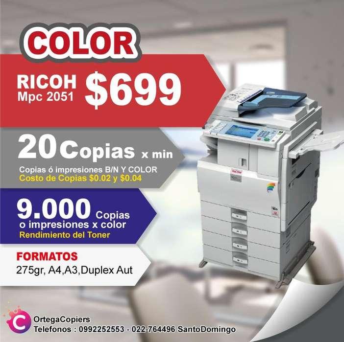 COPIADORA RICOH MPC2051 COLOR OFERTA