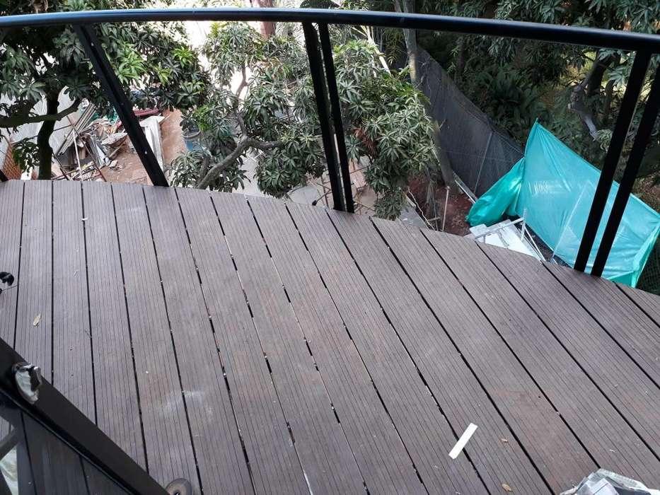 <strong>pisos</strong> Deck wpc, laminado, laminado pvc, pérgolas en madera plástica, aluminio o hierro.