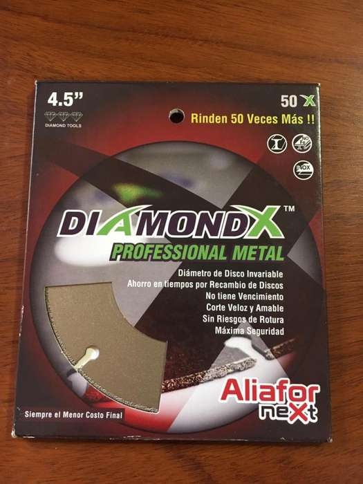Disco Diamantado Corte Metal Aliafor Next Diamondx 115 Mm