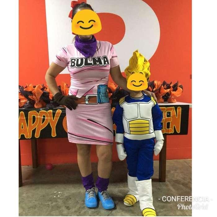 Disfraz Bulma Tm Y Vegeta Niño Talla 6