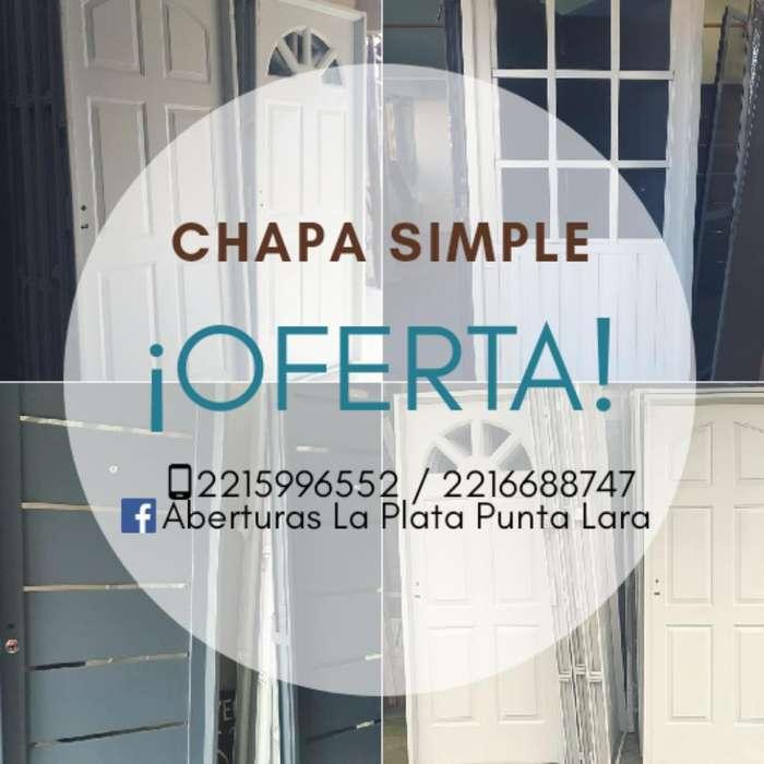 Puerta en Chapa desde 3299