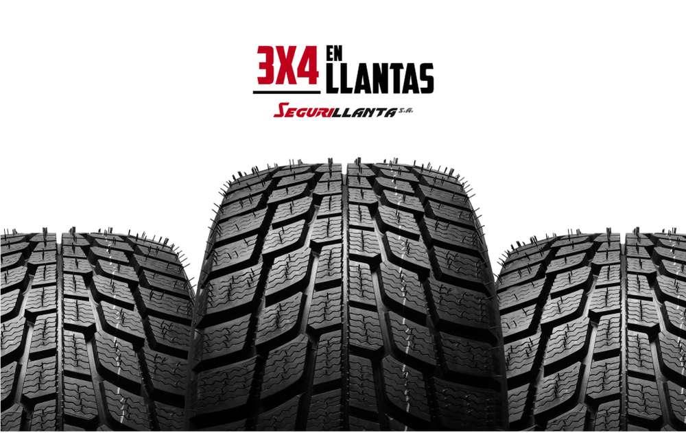 Llantas Para Auto, Camioneta y SUV con 3X4! Compra 3 y la 4ta es Gratis. - Segurillanta