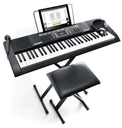Kit Teclado Musical Alesis Melody 61 Mkii Silla Mk2