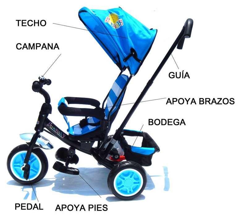 Triciclo Bebe Niño Niña Bebes Paseador Montable Moto OFERTA