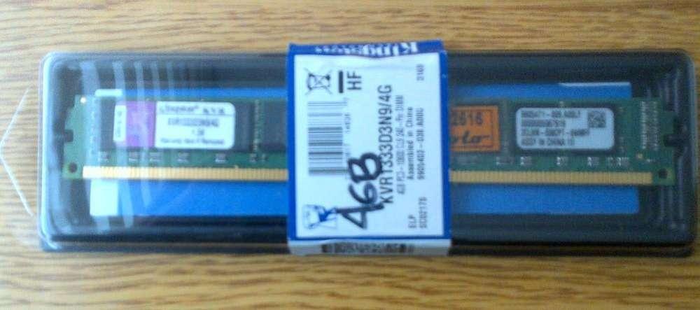 DDR3 Kingston de 4gb para PC