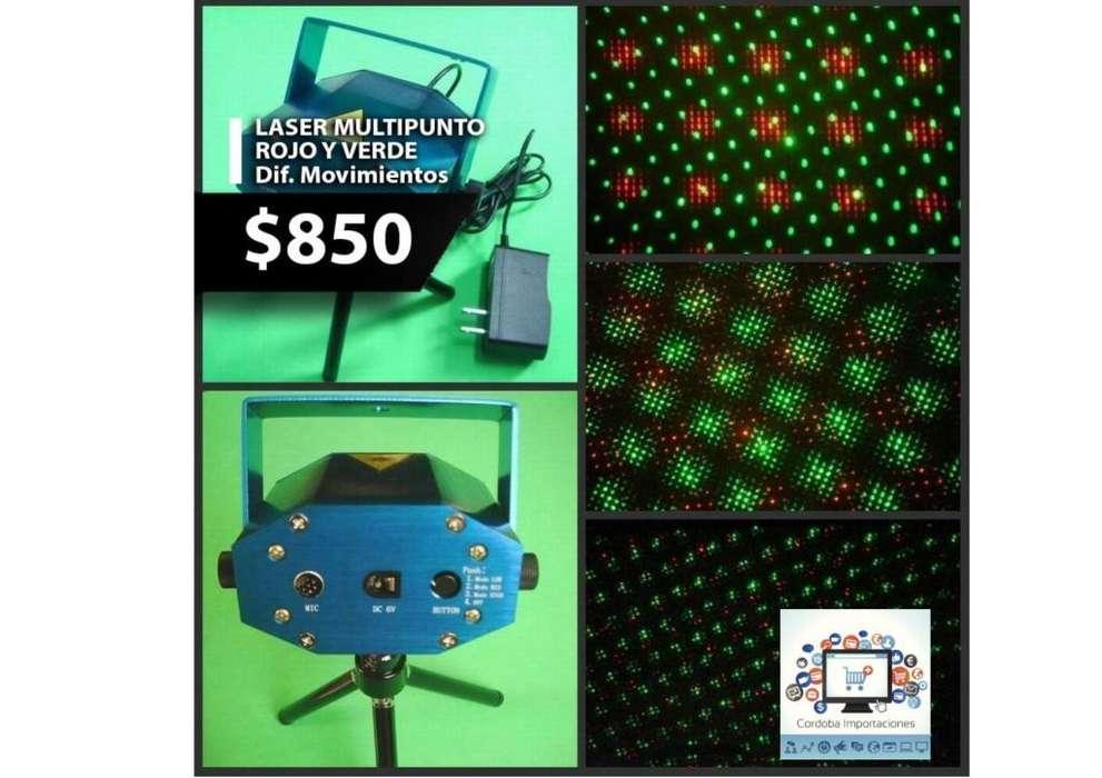 Laser multipuntos de colores