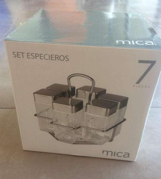 Especiero MICA Set 6 Especieros Base Metal Jer