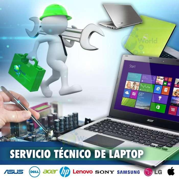 Servicio Tecnico Laptop Sony Hp Acer Toshiba Samsung Dell Y