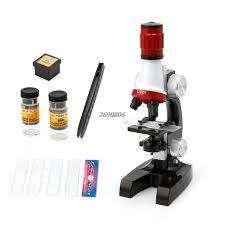 1200X Microscopio biológico monocular iluminado para niños herramienta de juguete