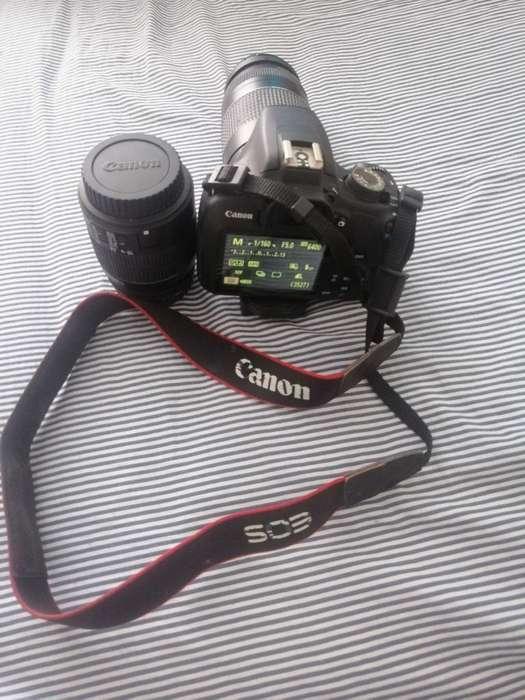Canon Rebel T5, 2 Lentes, Cargador,usada