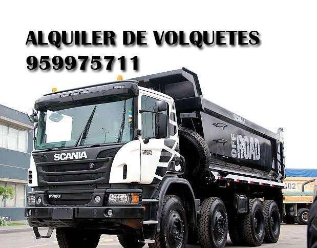 Alquiler de Volquetes Scania Volvo Movimiento de tierras Mineria