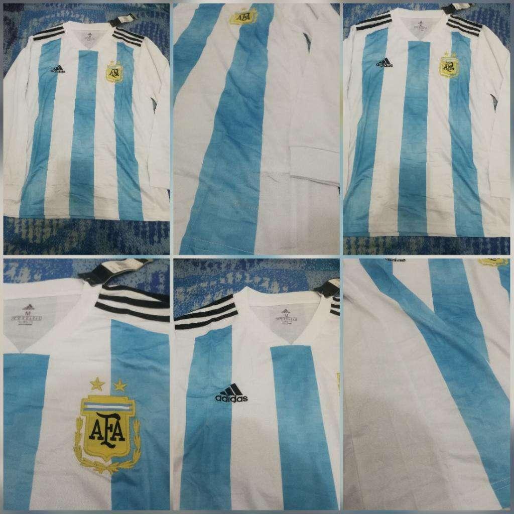 Camiseta Titular M.larga Selección Argen