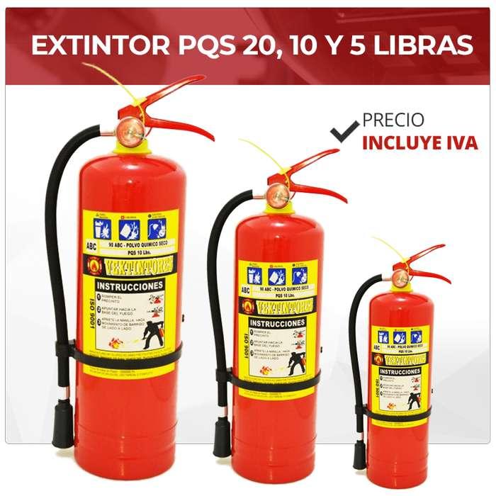 EXTINTOR PQS 10 LIBRAS. 20 LIBRAS. 5 LIBRAS. EXTINTOR CO2. POLVO QUIMICO SECO. INCENDIO. CABLE 4X22