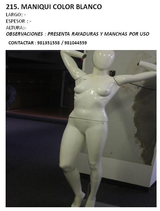 MANIQUI COLOR BLANCO