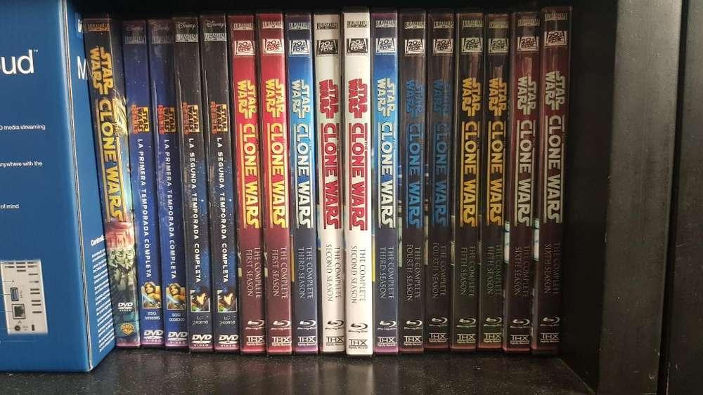 Star Wars Clone Wars & Rebels Serie Dvd