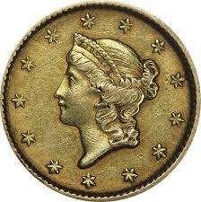 Moneda dolar 1853