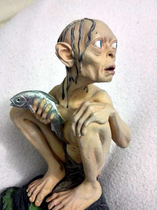 Ganga Smeagol Gollum Figura coleccionable DVD The Lord of the Rings The Two towers