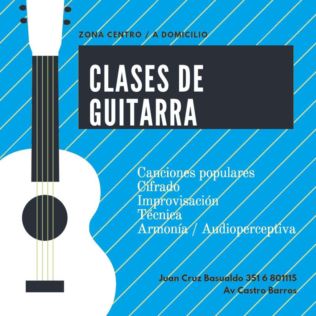 Clases de Guitarra Zona Centro/ a domicilio