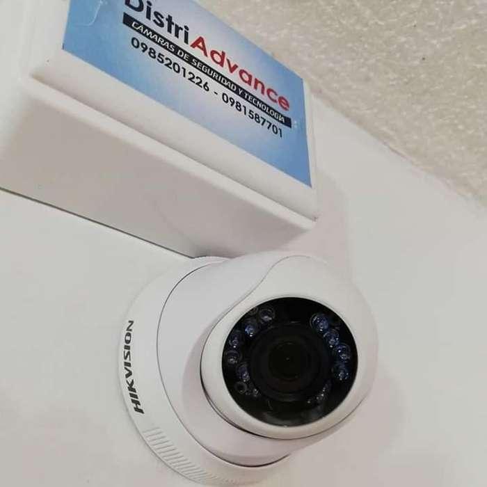 Camaras tipo domo hikvison 720p con <strong>video</strong> balun