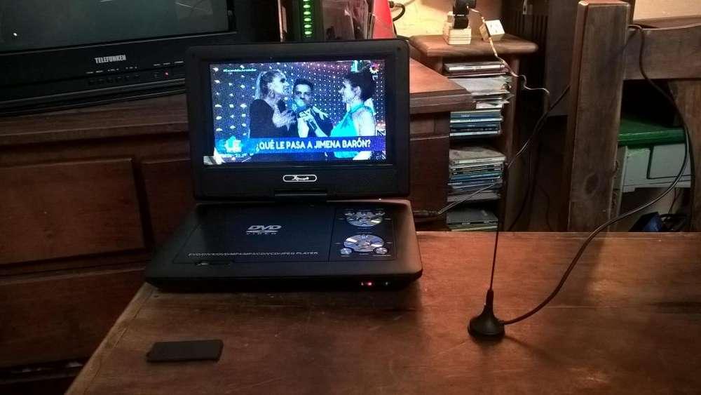 TV reproductor de DVD radio FM y Juegos