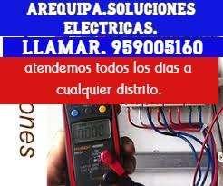 ELECTRICISTA A DOMICILIO LAS 24H AREQUIPA EMERGENCIAS AL CEL:959005160,CORTOCIRCUITOS SOLUCIÓN AL MOMENTO,DUCHAS,RACK.