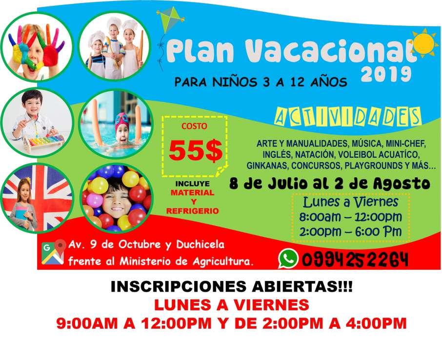 Plan vacacional 2019