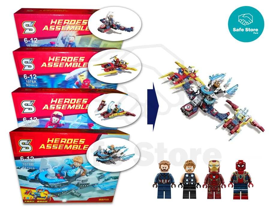 Lego Alternativo Avengers Iron Man Thor Spiderman Capitán América