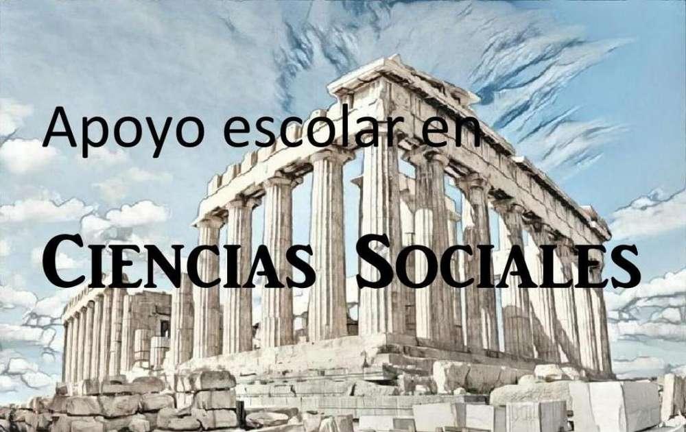 Clases particulares en Ciencias Sociales, a domicilio.