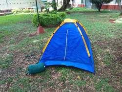 carpa camping y sleeping para un descanso o empijamada de niños