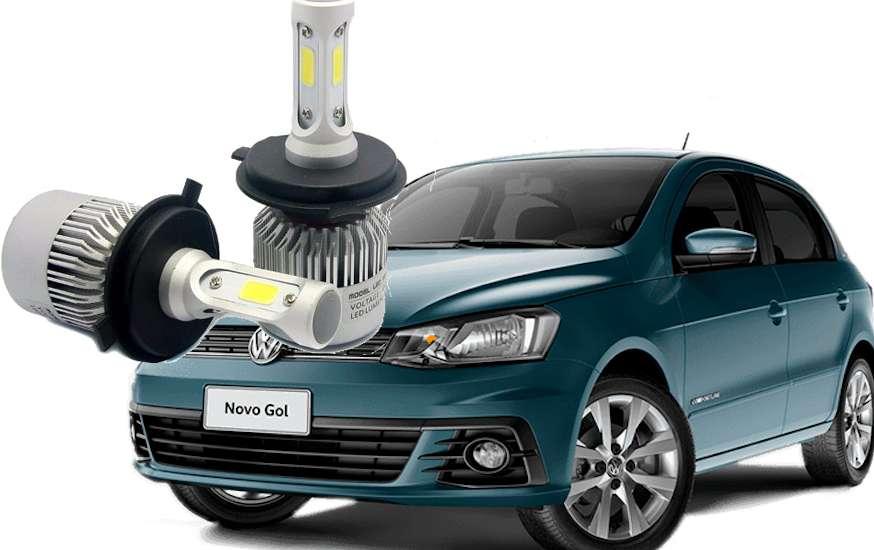 Kit Cree Led (alta y bala) 32 mil lm Fiat Uno, VW Gol Trend, Saveiro, Up, Clio, Corsa, Escort