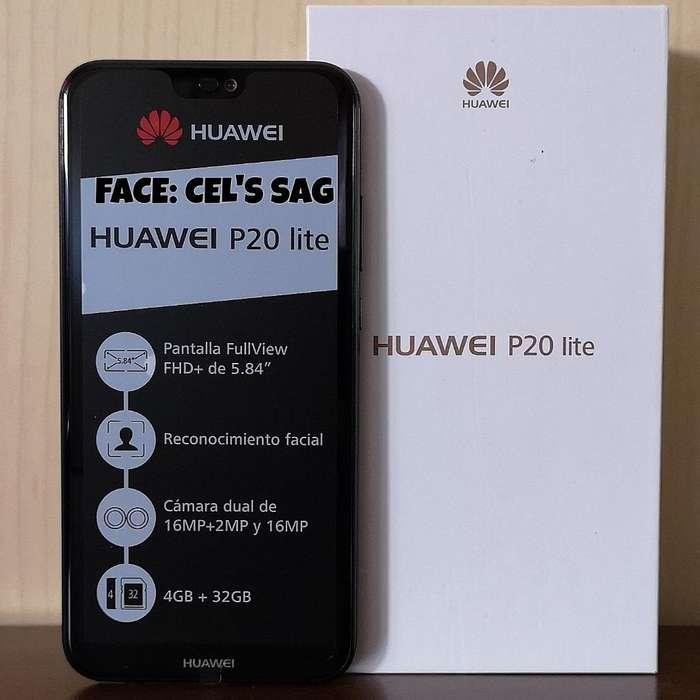 HUAWEI P20 LITE NUEVOS 32GB, ANDROID 9, CAMARA DUAL. ACEPTO CELULAR Y EFECTIVO