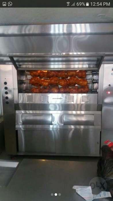 Horno con infrarrojo a gas cap 36 pollos