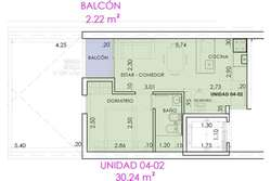 Departamento en 1 dormitorio zona Centro Monumento