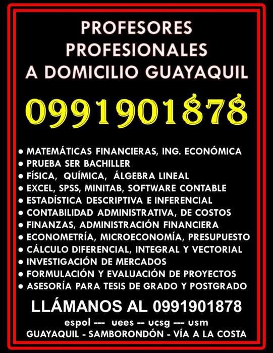 0991901878 Clases Matemáticas Financieras Excel Estadística Contabilidad Álgebra Lineal a domicilio Guayaquil