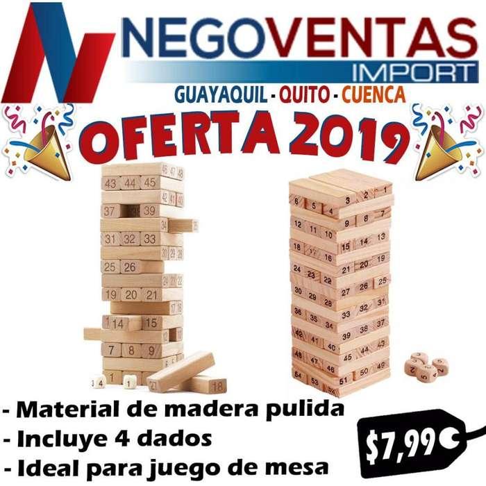 JUEGO DE MESA HABILIDAD METAL JENGA DE MADERA