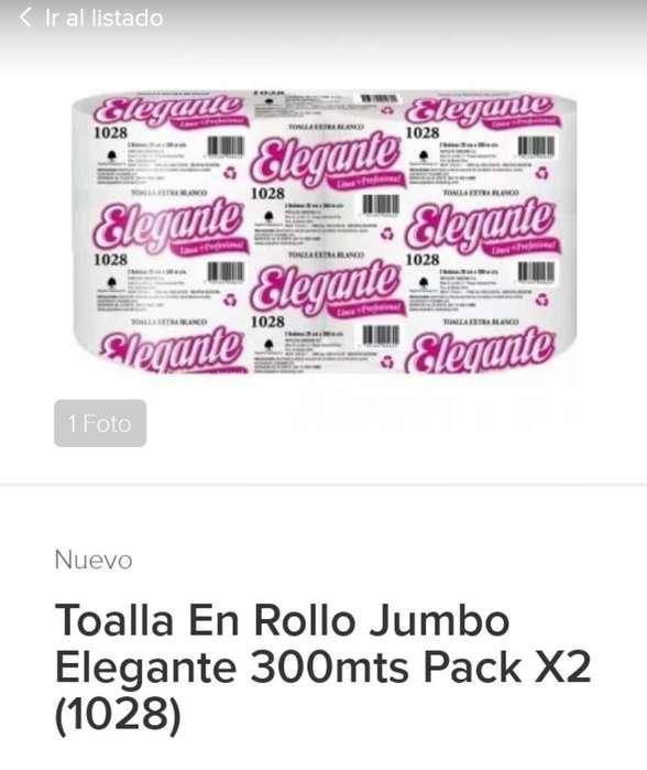 Toalla de Papel Mano Pack 2 X 300 mts c /u