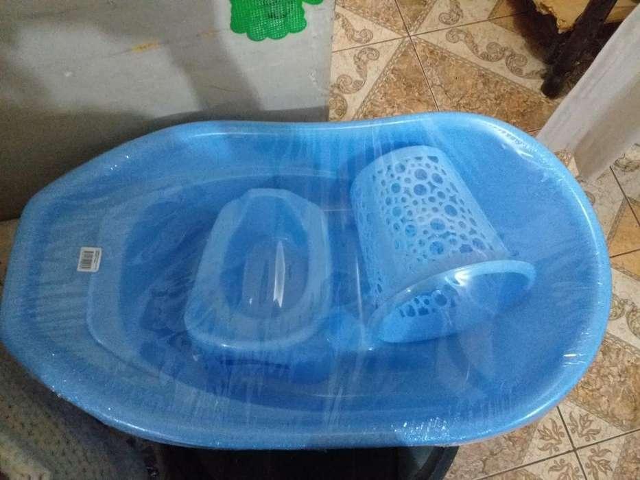 Bañera Grande Y Vasenilla para Bebés