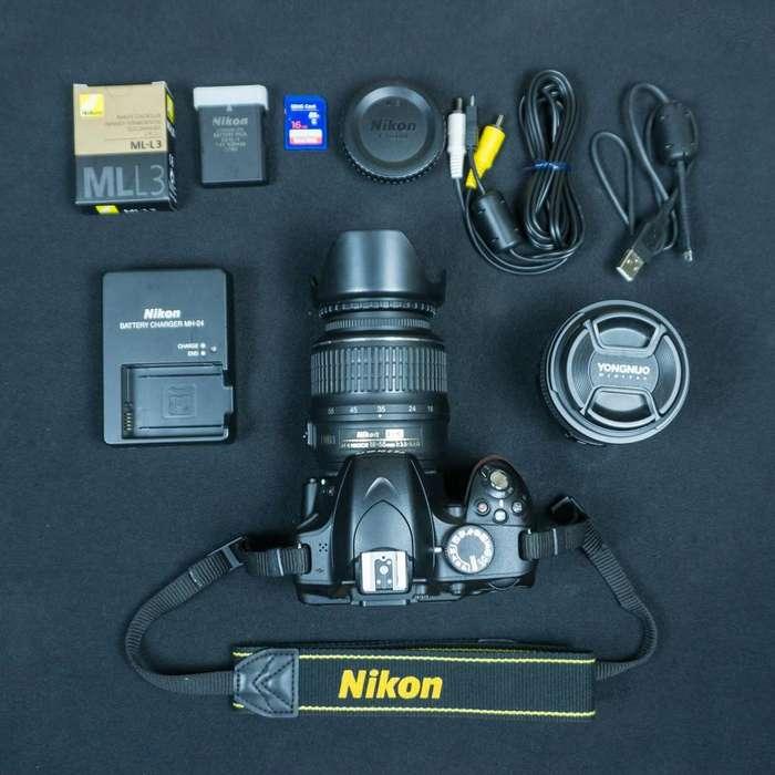 Nikon D3200 dos lentes