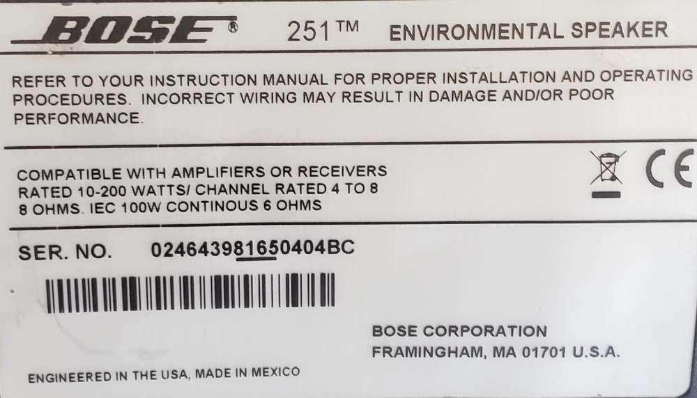 Parlates Bose 251 Tm