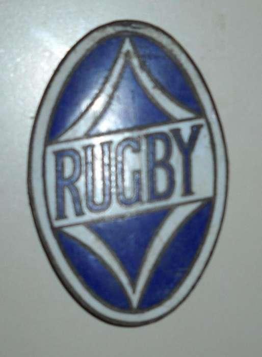 PARA COLECCIONISTAS: Emblema Original de Radiador de RUGBY 1929