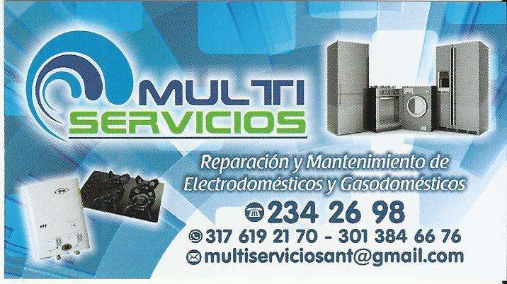 Reparación y mantenimiento de lavadoras, neveras, estufas de gas, calentadores, secadoras