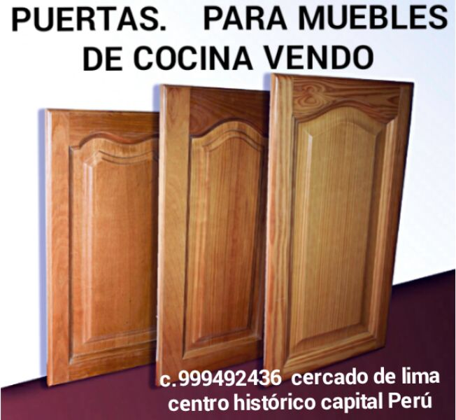Puertas para Muebles de Cocina de Madera - Lima