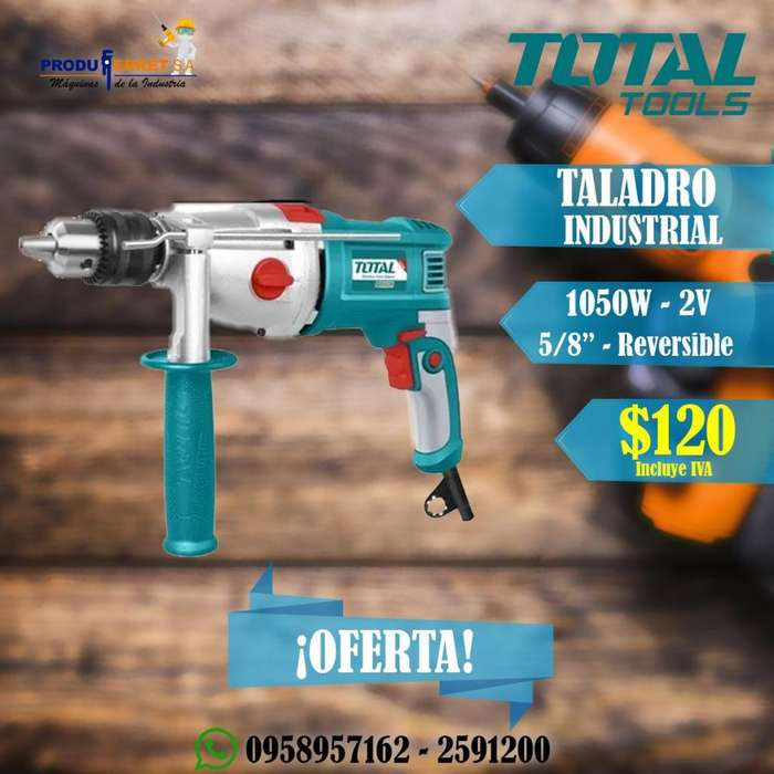 Taladro Industrial TOTAL 1050W Reversible