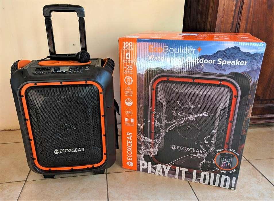 Parlante Ecoxgear Ecoboulder Bluetooth 100 Watts Portátil Nuevos!