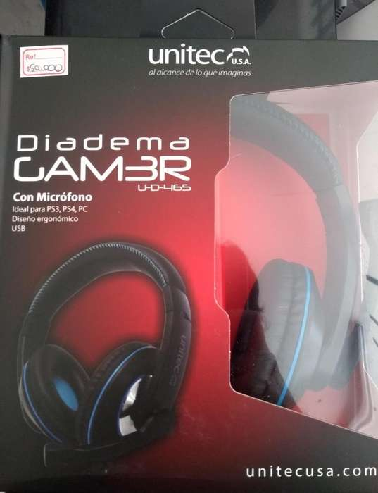 Diadema Gamer Unitec PC PS3 PS4