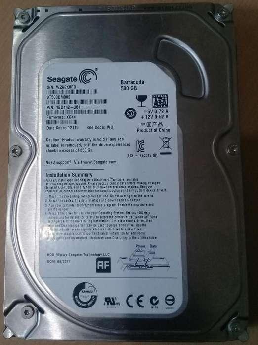 Discos Duros Sata de 500 Gb 3.5